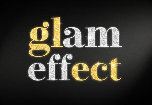 Glitter text effect