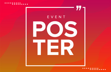 Poster event template Wall mural