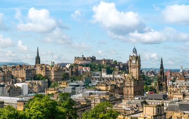 Edinburgh Scotland Skyline ,viewed from Calton Hill