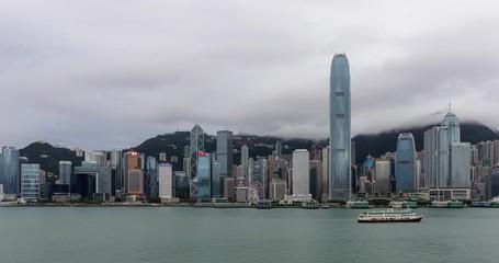 Wall Mural - Timelapse of Hong Kong landmark