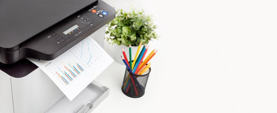 Printer, copier device in office