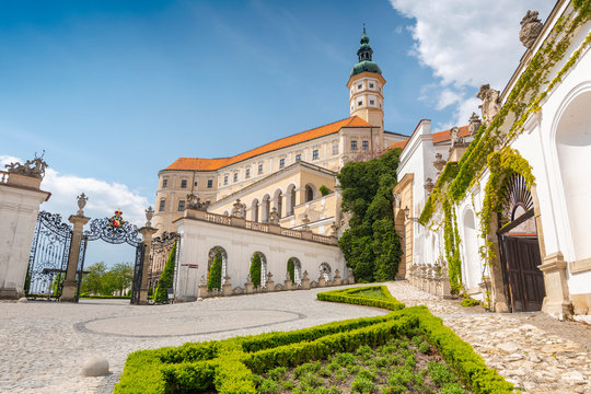 Mikulov Castle in the town of Mikulov in South Moravia, Czech Republic.