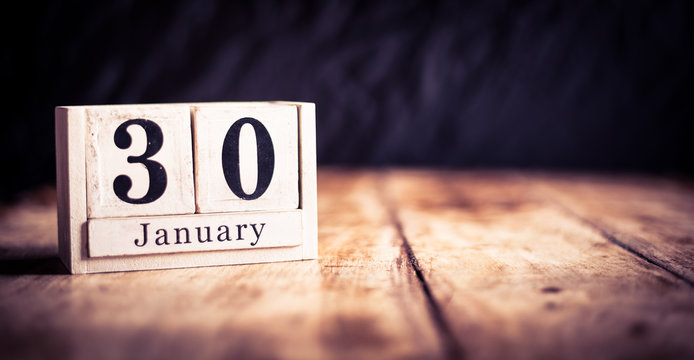 January 30th, 30 January, Thirtieth of January, calendar month - date or anniversary or birthday