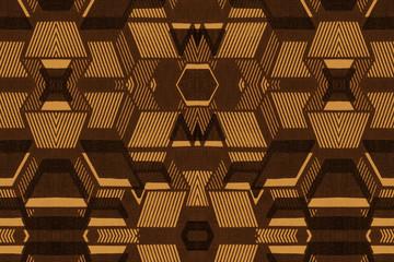 Geometric pattern of an African fabric
