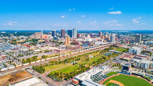 Birmingham, Alabama, USA Downtown Skyline Panorama