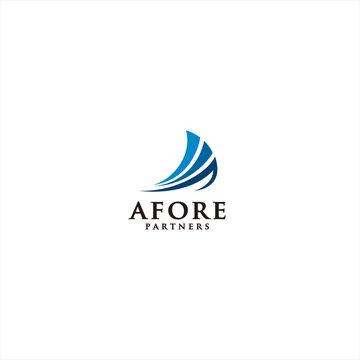 Abstract Sail logo template design