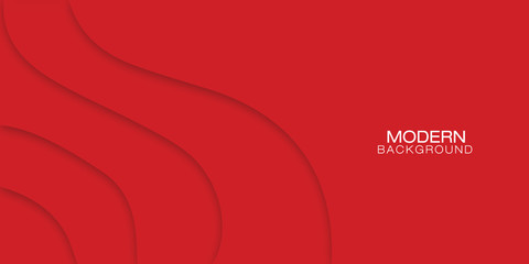 Vector abstract background - banner modern concept of red paper art style. Fototapete