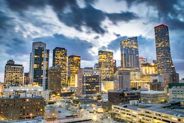 Skyline of Downtown Houston at Dusk - Houston, Texas, USA