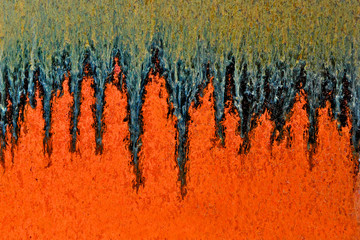 Glaze drip abstract