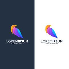 Colorful bird logo design vector