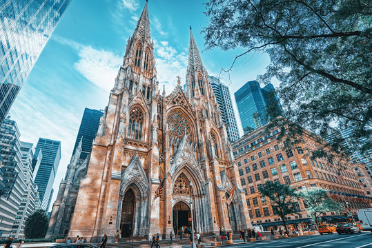 New York, USA, Cathedral of St. Patrick .