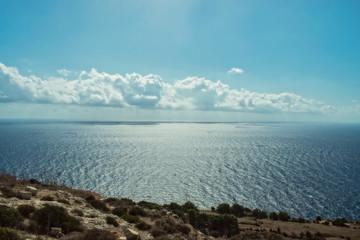 The Sea and Blue Sky in Malta