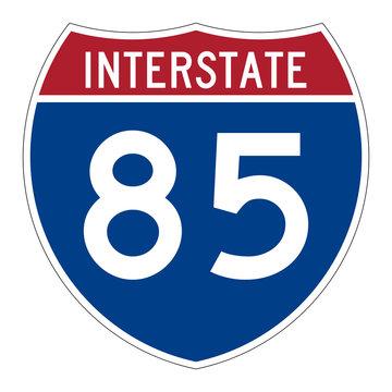 Interstate highway 85 road sign