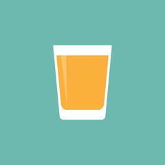 Juice glass icon flat style