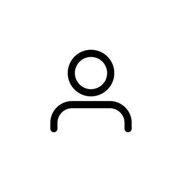 Men profile icon simple design