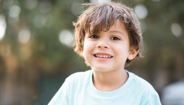 handsome child outdoors summer portrait