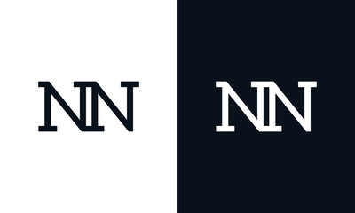 Creative line art letter NN logo. This logo icon incorporate with two letter in the modern way.