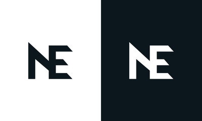Minimalist abstract letter NE logo. This logo icon incorporate with two abstract shape in the creative process.