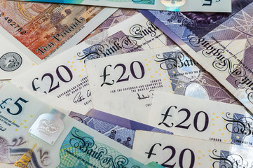 British pounds banknotes  Fotoväggar