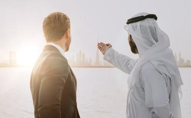 Aluminium Prints Dubai Business team talking about future plans in Dubai