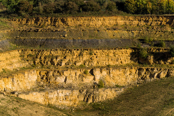 Disused Limestone quarry broadway cotswolds worcestershire england uk