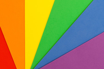Abstract textured background of colorful craft foam board in the Pride LGBT rainbow colors