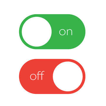 On and off tumbler. User interface element slider switch