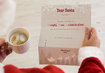 Santa Claus Letter and Envelope Layout