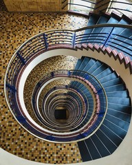 Spiral gray stairs