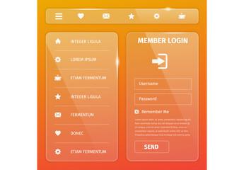 Mobile Login UI Layout