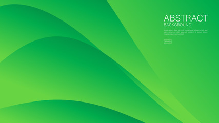 Green wave abstract background vector can be use cover, banner, wallpaper, flyer, brochure, book, printing media, card, web background