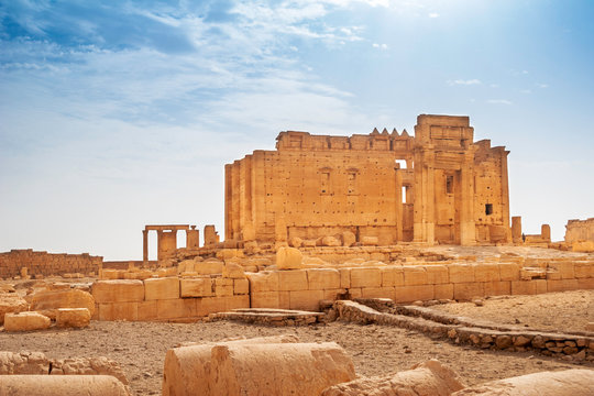 Palmyra Temple of Bel, consecrated to the Mesopotamian god Bel. UNESCO World Heritage Site.
