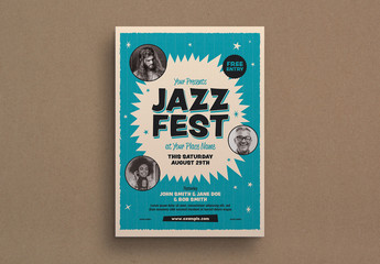 Retro Style Jazz Event Flyer Layout