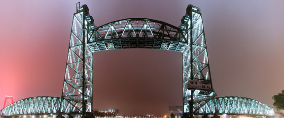Deurstickers Rotterdam De Hef by night rotterdam