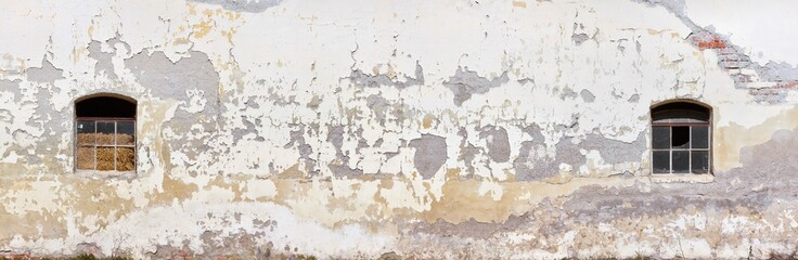 Old crumbling farm wall in poster size