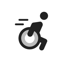 People With Disabilities Vector Illustration Icon