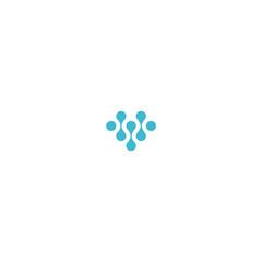 abstract love network logo design