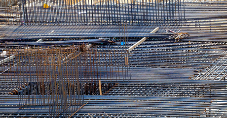 Steel rebar reinforcemen background