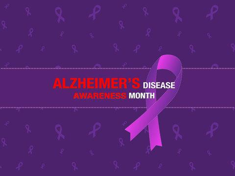Alzheimer's disease awareness month banner/poster