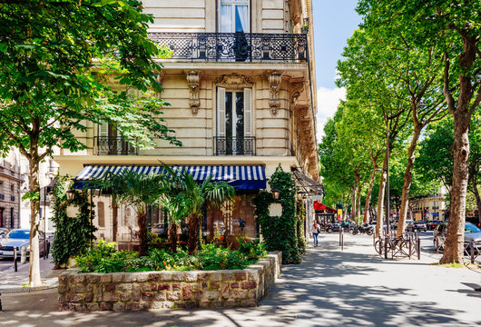 Boulevard Saint-Germain in Paris, France. Boulevard Saint-Germain is a major street in Paris.
