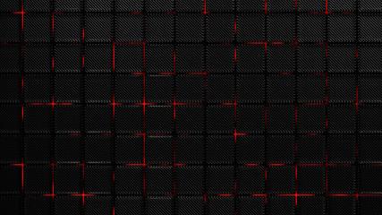 Carbon fiber background texture. New technology industrial material, 3d render illustration.