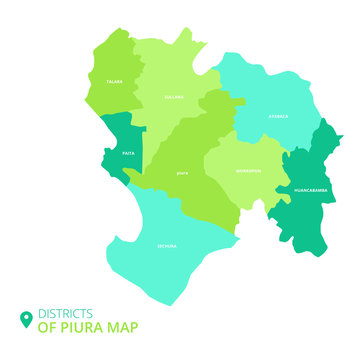 districts of piura  map
