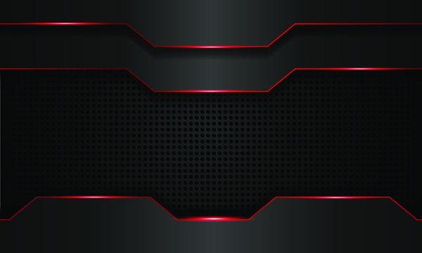 dark red technology background, modern technology wallpaper, dark black and red line, futuristic deep background, vector.