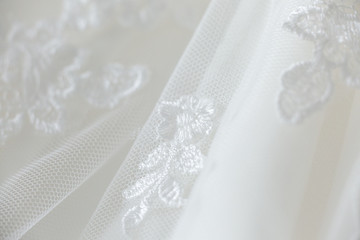 Wedding dress lace close up macro