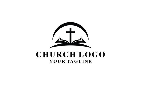 church and book logo design inspirations