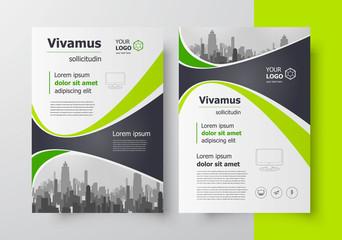 Flyer brochure design, business flyer size A4 template, creative leaflet, trend cover geometric