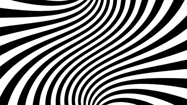 Vector - Black and white abstract striped illusion