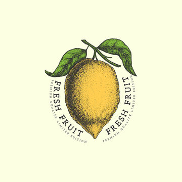 Vintage lemon label