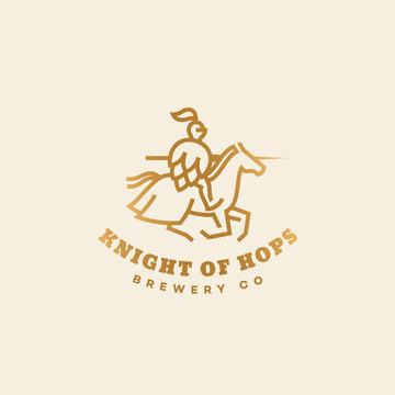 Knight of hops logo