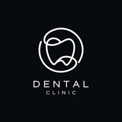 Simple Dental Teeth Logo Design Vector